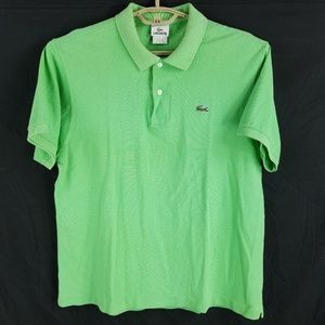 Lacoste Lime Green Polo Shirt Size 6 Large